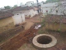 印度的村庄视图 库存照片