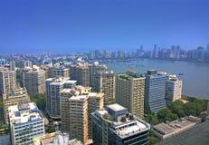 印度的空中孟买财政首都 免版税库存照片