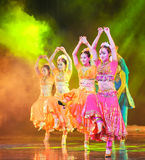 印度的美好的莎丽服舞蹈 图库摄影