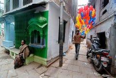 印度的老市 库存照片