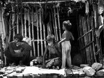 印度的苦涩现实 库存照片