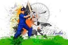 从印度的蟋蟀球员 向量例证