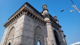 印度的门户美丽的景色  孟买 免版税图库摄影