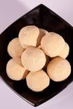 从印度的Basen钾Ladoo 免版税库存照片
