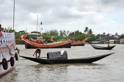 印度的Namkhana渔村庄 图库摄影