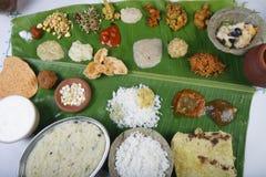 从印度的Pongal节日特别盘 库存照片