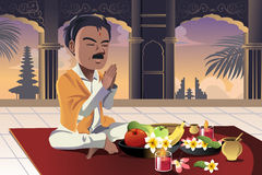 印度祈祷 免版税图库摄影
