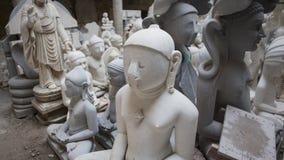 印度神和女神雕象  印度的工艺和艺术 Mur 图库摄影