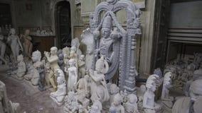 印度神和女神雕象  印度的工艺和艺术 Mur 免版税图库摄影