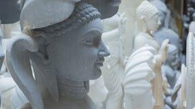 印度神和女神雕象  印度的工艺和艺术 Mur 免版税库存图片