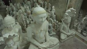 印度神和女神雕象  印度的工艺和艺术 Mur 免版税库存照片