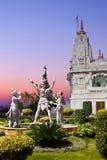 印度神象和寺庙 免版税库存图片