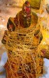印度神阿曼雕象 图库摄影
