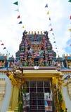印度神,槟榔岛,马来西亚雕象门面的 免版税图库摄影