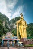 印度神Muragan雕象巴图的陷下 库存照片