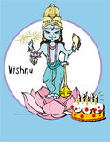 印度系列vishnu 免版税图库摄影