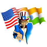 印度美国关系 图库摄影
