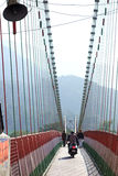 印度脚桥梁横穿 免版税库存照片