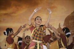 印度舞蹈家 免版税库存照片