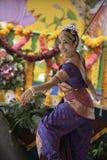 印度舞蹈演员 免版税库存图片