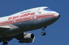 印度航空波音747 免版税库存照片