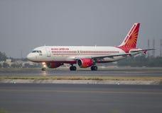 印度航空空客320 免版税库存照片