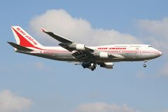 印度航空 免版税图库摄影
