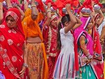 印度节日队伍 图库摄影