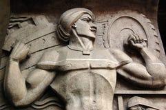 印度行业肌肉雕塑 免版税库存照片