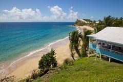 印度西部、加勒比、安提瓜岛、圣玛丽、雍容海湾&海滩 库存图片