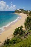 印度西部、加勒比、安提瓜岛、圣玛丽、雍容海湾&海滩 图库摄影