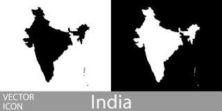 印度详述了地图 向量例证