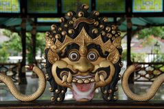 印度邪魔雕刻 免版税库存照片