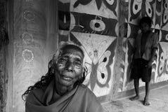 印度部族妇女 库存图片