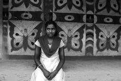 印度部族妇女 免版税库存照片