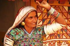印度部族妇女 库存照片