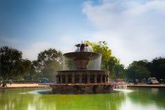 印度门喷泉 免版税库存照片