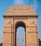印度门在新的Delh的战争纪念建筑 图库摄影
