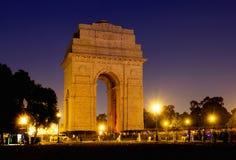 印度门战争纪念建筑在新德里,印度 库存照片