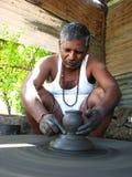 印度陶瓷工 库存图片