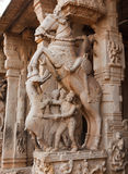 印度雕象寺庙 图库摄影