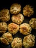 印度食物,dal Baati,Baati被烘烤 免版税库存图片