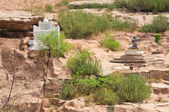 印度,乔德普尔城, Mehrangarh堡垒 库存图片
