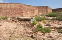 印度,乔德普尔城, Mehrangarh堡垒 免版税库存图片