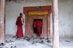 印度,在喜马拉雅山的Buddhisim 免版税库存照片