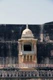 印度,城堡的城垛的堡垒 免版税库存图片