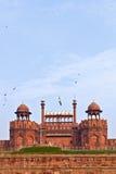印度,德里,德里红堡,它由Shahjahan修造作为台尔 免版税图库摄影