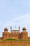 印度,德里,德里红堡,它由Shahjahan修造作为台尔 免版税库存图片