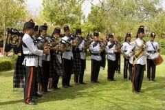 印度,拉贾斯坦,斋浦尔, 2013年3月02日:印地安乐队在Ho 免版税图库摄影