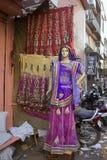 印度,拉贾斯坦,斋浦尔, 2013年3月02日:印地安传统wom 图库摄影